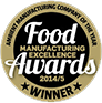 Food Manufacturing Excellent Award Winner