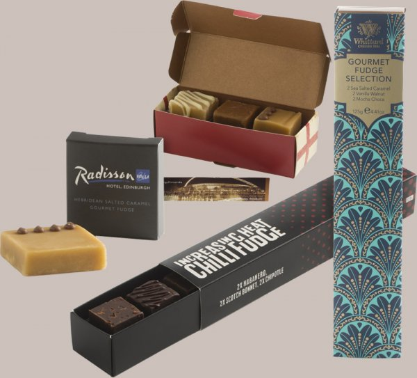 8c5758d18f4062 All of our corporate gifts can display a message or corporate logo. Your  fudge will be handmade to order so flavours and packaging can be chosen to  ...
